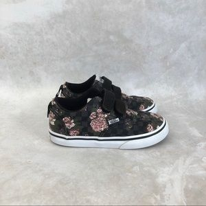 Vans Off The Wall Floral Red Pink Low Top Sneakers